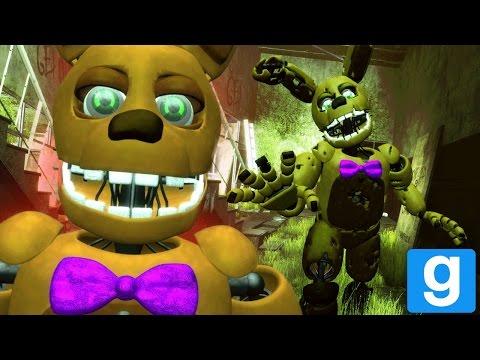 FREDBEAR AND SPRING BONNIE SPEAK! || GMOD FNAF (Fredbears Family Diner Animatronics Garrys Mod)