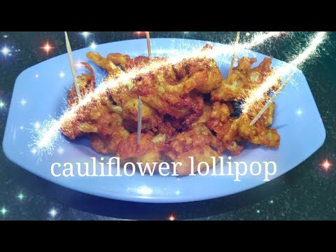Cauliflower lollipop