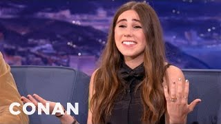 Zosia Mamet on Growing Up With David Mamet - CONAN on TBS