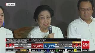 Megawati Puji Pidato 'Kemenangan' Prabowo soal Quick Count