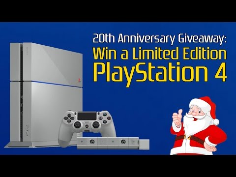 20th Anniversary GIVEAWAY: Win a Limited Edition PlayStation 4 (in original grey)!!