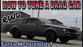 HOW TO TUNE A DRAG CAR ON FORZA MOTORSPORT 7