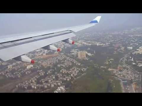 Landing at Delhi Airport runway 28