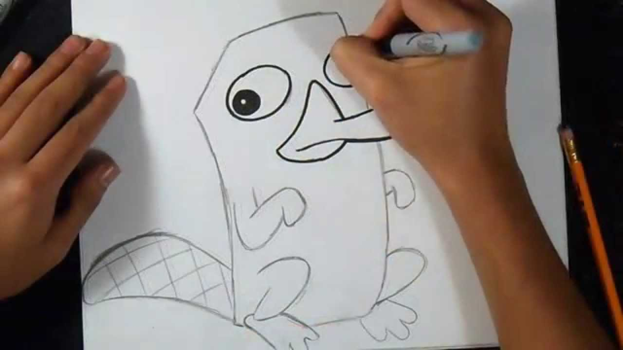 Comment dessiner agent p perry l 39 ornithorynque - Comment dessiner spirit ...