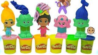 Poppy And Branch Dreamworks Trolls Press 'n Style Salon Playdoh Hair Barbie Makeover