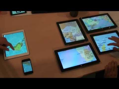 HuddleLamp: Spatially-Aware Mobile Displays for Ad-hoc Around-the-Table Collaboration