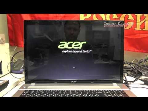 Заводские настройки ноутбук Acer