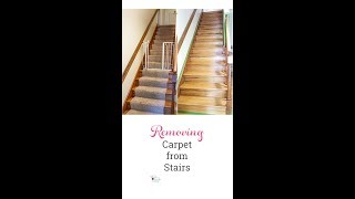 How to Remove Carpet from Stairs