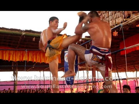 Lethwei Burmese Boxing [HD] - Fight Tournament near Eindu (5) - Kayin State Myanmar - Thingyan 2013 Image 1