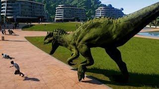 Indominus Rex Camouflage & Spinosaurus Breakout & Fight! Jurassic World Evolution (1080p 60FPS)