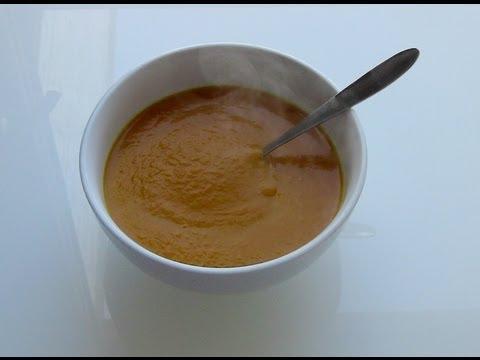Crema de calabaza con gambas (o bacalao ahumado)