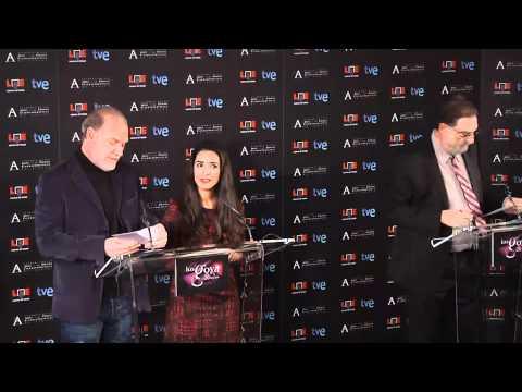 Lectura Finalistas Premios Goya