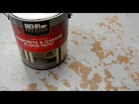 Behr Concrete and Garage Floor Paint - Problems With 010.MOV