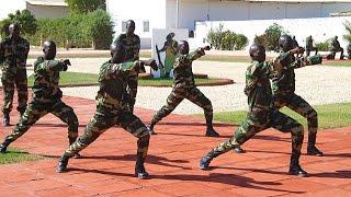 Chorégraphie militaire de soldats sénégalais