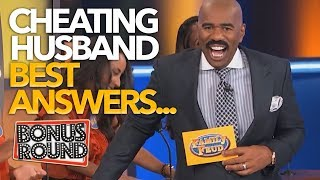 BEST Answers EVER On Family Feud USA! Steve Harvey Asks.. Cheating Husband Questions!