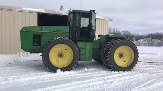 John Deere Tractor Stuck in Snow
