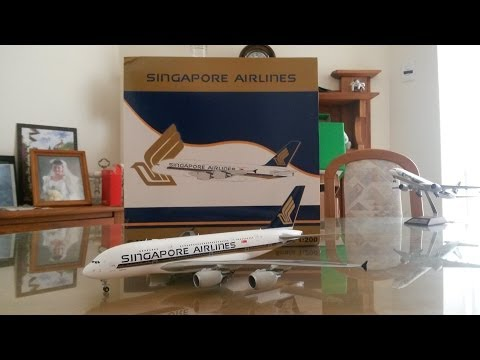 JC Wings 200 Singapore Airlines A380 Unboxing and Review