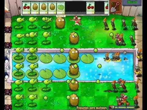 plantas vs zombis minijuego (pequeños pero matones)