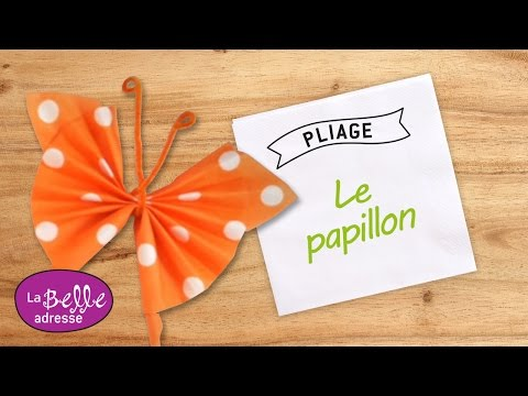 Pliage De Serviette En Papier Papillon Color Youtube