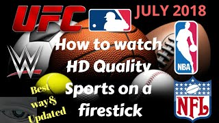 How to watch live HD Sports on a firestick 2018 NEW LINK