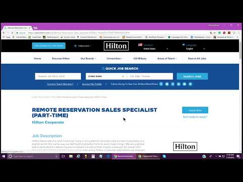 Hilton PT Work From Home