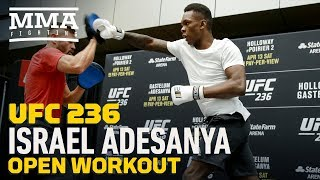 UFC 236: Israel Adesanya Open Workout Highlights - MMA Fighting