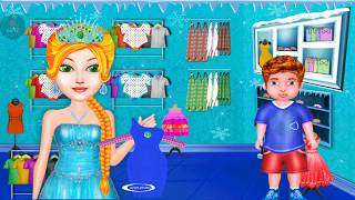 ice princess tailor clothes making Angel Gameplay for kids