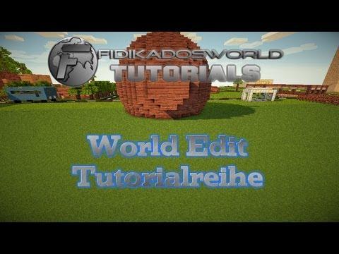 Das große WORLDEDIT Tutorial #1 - Minecraft Bukkit Plugins -  Befehle von A - Z
