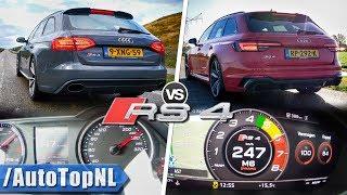 Audi RS4 Avant Quattro OLD vs NEW   0-247km/h ACCELERATION SOUND & POV by AutoTopNL