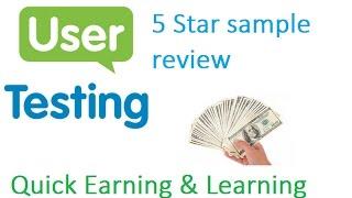 Usertesting 5 star sample video for sellad