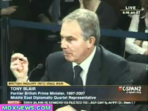 Tony Blair Iraq War Inquiry Jan 21, 2011 pt.2