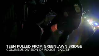 Ohio Police Stop Teen From Jumping off bridge 'You Don't Want to Do This'
