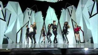인기가요 SBS Inkigayo  SNSD - Mr.taxi + The boys 111023
