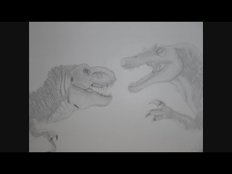 Spinosaurus vs t Rex Drawing Spinosaurus Finished Drawing