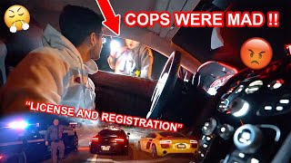 POLICE PULL ME OVER FOR DRIVING WITH SUPERCARS DOING DONUTS *TIME SQUARE AUDI R8 SHOOT*