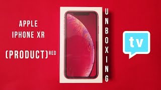Apple iPhone XR Product RED Unboxing