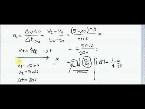 Fisica - Lezione 04 - Accelerazione - Tutorial di Fisica