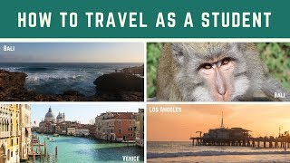 How To Travel On A Student Budget!   My Tips and Tricks   Katie May