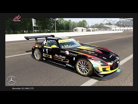 Assetto Corsa: Mercedes SLS AMG GT3 @Monza GP - preview & test lap