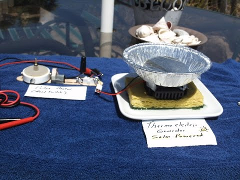 Solar Powered Theromoelectric Generator ---- Powering a Pulse Motor