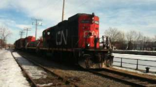 The best Sound to hear of an EMD GP9 567 from CN in Montreal, Canada 2