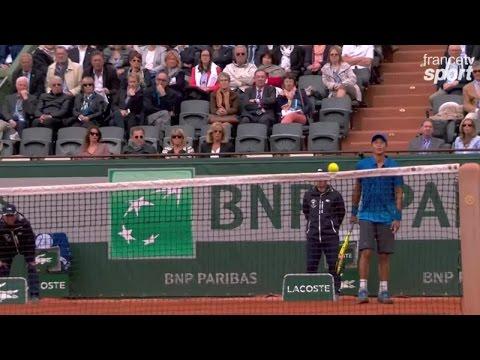 Coup de billard de Lu contre Djokovic
