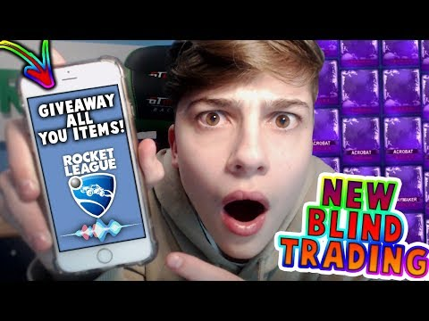PHONE CHOOSES ITEM GIVEAWAYS FOR FANS! | TRADING WITH FANS | Rocket League