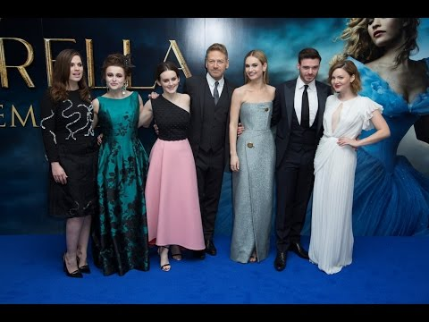 Cinderella London Blue Carpet - Lily James, Richard Madden, Helena Bonham-Carter, Hayley Atwell