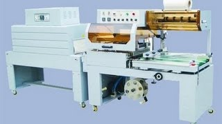 high speed L bar sealer shrinking machine L type automatic sealing shrinking machine  film wrapping
