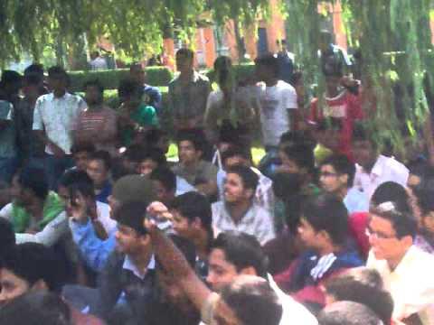 nit srinagar hunger strike &protest