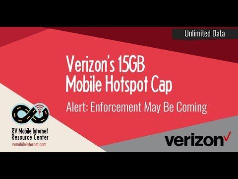 Verizon New Unlimited Data Plan Update: 15GB Mobile Hotspot Cap Enforcement
