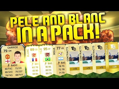 PELE IN A PACK AGAIN + NEW LEGEND BLANC IN A PACK!!!!! CRAZY PACK OPENING FIFALUCK!