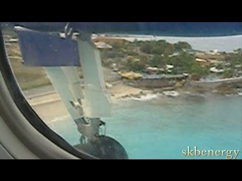 St Kitts to St Maarten on Liat Dash 8-300, Old Footage