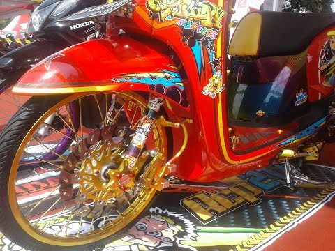 Modifikasi Scoopy Full Aksesoris Thailook